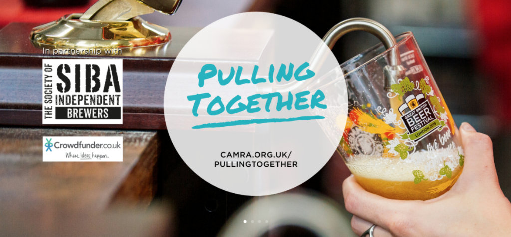 pulling together - support local beer, pubs and cider during this crisis